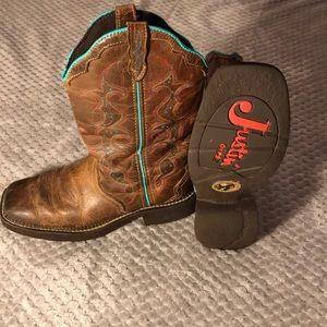 Justin Boots Ladies Size 8 1/2 B